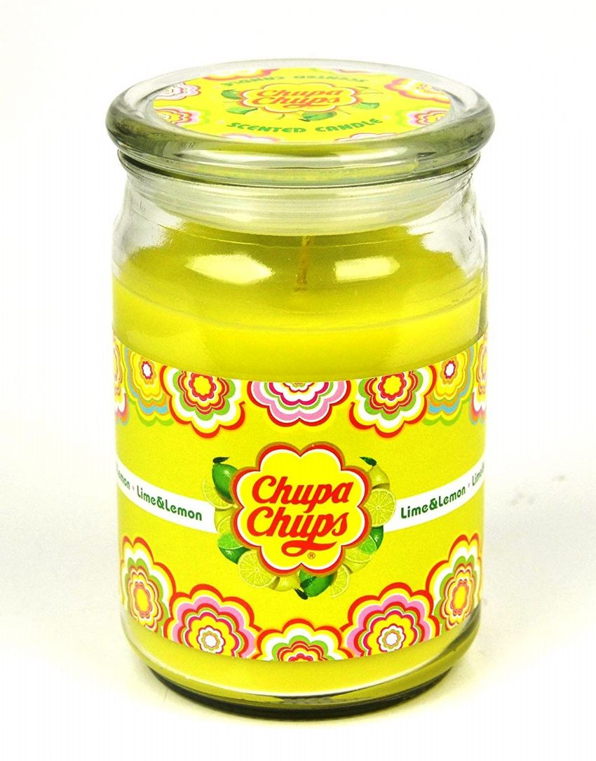 Lime & Lemon Scented - Chupa Chups Large Jar Candle 130 Hours